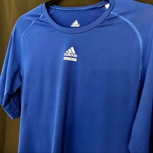Adidas Techfit Men's Shirt Blue Large Climalite